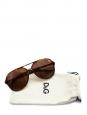Lunettes de soleil Aviator monture écaille marron et verre brun Px boutique 195€