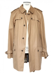 Men's Tobacco cotton Trench Coat lined in cashmere and wool Retail price €700 Size XL