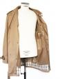 Manteau Trench Homme en coton Tabac doublé laine et cachemire Px boutique 700€ Taille XL
