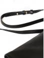 Sac clutch RACHEL en cuir noir et noeud doré Px boutique 895€