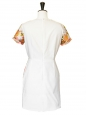 Robe RIDLEY imprimé Garden floral rose, vert, jaune, blanc Px boutique 775€ Taille 38