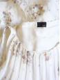 Robe en soie plissée écru à motifs Px boutique environ 2000€ Taille 38