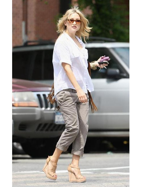 Louise Paris Chloe Shirley Cork Wedge Sandals Retail