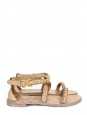 Beige breaded leather flat sandals Retail price €480 Size 36,5
