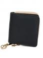 Portefeuille Baylee carré NEUF en cuir bicolor noir et vert de gris Px boutique 395€