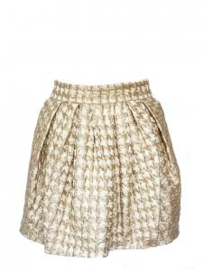 Jupe taille haute en brocart de soie doré Px boutique 1000€ Taille 38