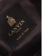 Sac du soir en satin de soie noir, chaîne dorée et broderie cristal Px boutique 1500€