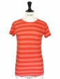 Orange striped cotton t-shirt Size 34/36