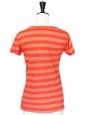Orange striped cotton t-shirt Size 34/36