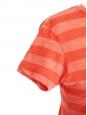 T-shirt en coton orange à rayures Taille 34/36
