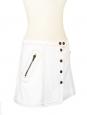 Mini jupe en jean blanc et boutons cuivrés Px boutique 350€ Taille 40