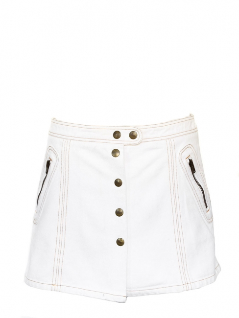 White denim mini skirt Retail price €350 Size 40
