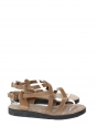 Nutmeg leather flat gladiator sandals NEW Size 40