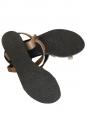 Sandales plates gladiateur en cuir noisette NEUVES Taille 40