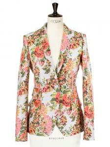 Veste blazer en jacquard fleuri multi-color Px boutique 1200€ Taille 38