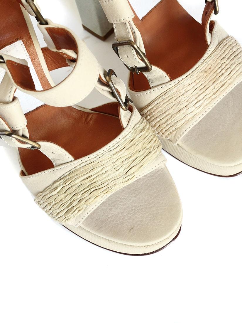 louise paris sandales talon en cuir beige px boutique 750 neuves taille 37 louise paris. Black Bedroom Furniture Sets. Home Design Ideas