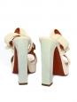 Sandales à talon en cuir beige Px boutique 750€ NEUVES Taille 37