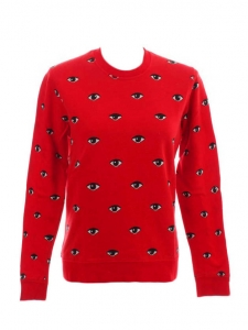 Pull sweatshirt EYES rouge Px boutique environ 250€ Taille 38
