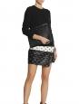 Mini jupe EYE en cuir noir et blanc Px boutique 870€ Taille 36