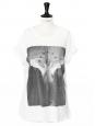 T-shirt blanc manches courtes imprimé ange ailé Px boutique 550€