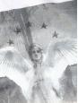 T-shirt blanc manches courtes imprimé ange Px boutique 450€