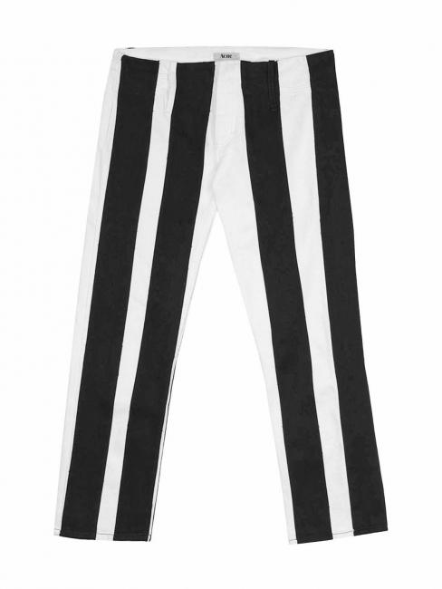 Jean en coton blanc rayé noir Px boutique 240€ Taille 34