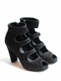 Black suede multi strap sandal boots Retail price 350€ Size 39