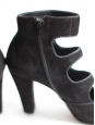 CHIE MIHARA Black suede multi strap sandal boots Retail price 350€ Size 39
