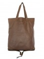 Brown leather Amelia foldable handbag