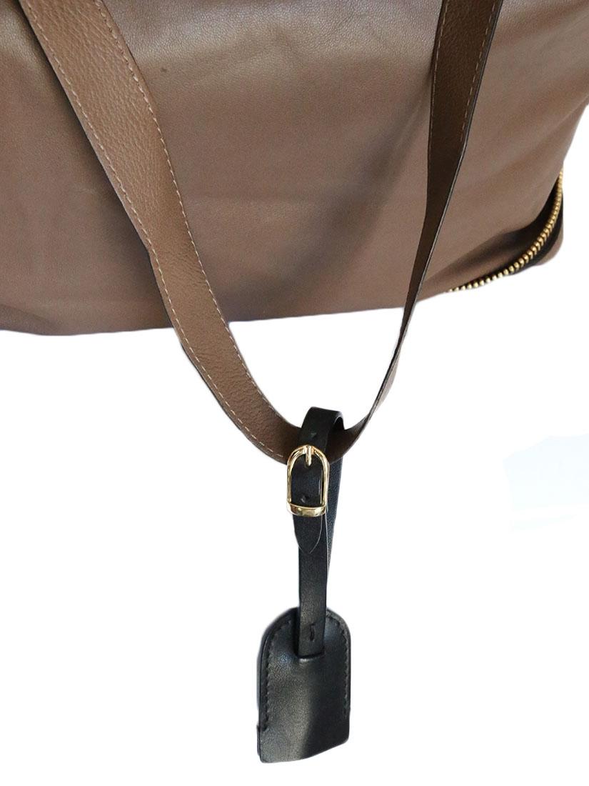 Connu Louise Paris - CHLOE Sac tote bag pliable en cuir brun taupe IJ44