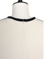 CHLOE Ecru white and black silk crepe graphic top Retail price €650 Size 36