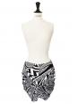 Black and white print wrap skirt Retail price around €900 Size 36