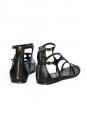 Sandales gladiator en cuir noir Px boutique 550€ Taille 40