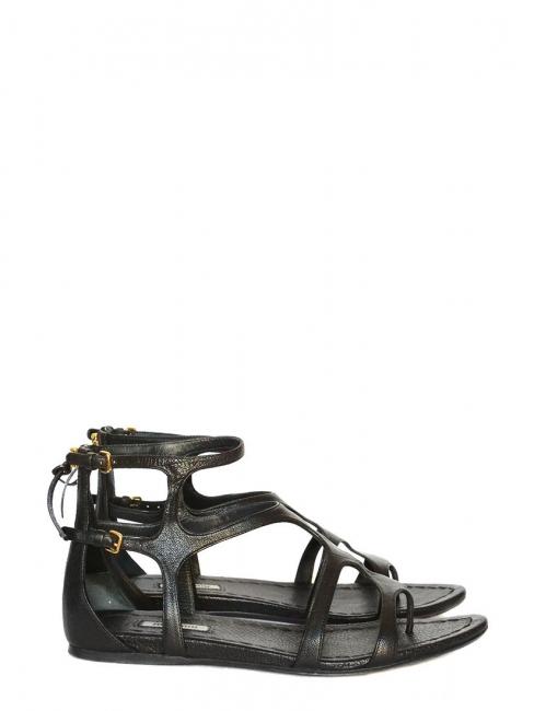 Sandales gladiator en cuir noir Prix boutique 550€ Taille 40