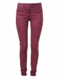 Burgundy high waist slim fit denim jeans Retail price €309 Size 38