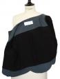 """Bolero """"scalloped"""" en lin bleu canard Px boutique 1100€ Taille 36"""