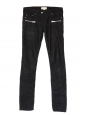Black corduroy skinny zip pants Retail price €205 Size 38