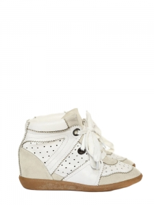BOBBY white suede leather wedge sneakers Retail price €395 Size 38