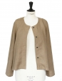 Khaki brown linen jacket retail price €200 Size 38