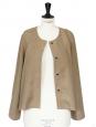 Khaki brown linen jacket retail price €200 Size 38