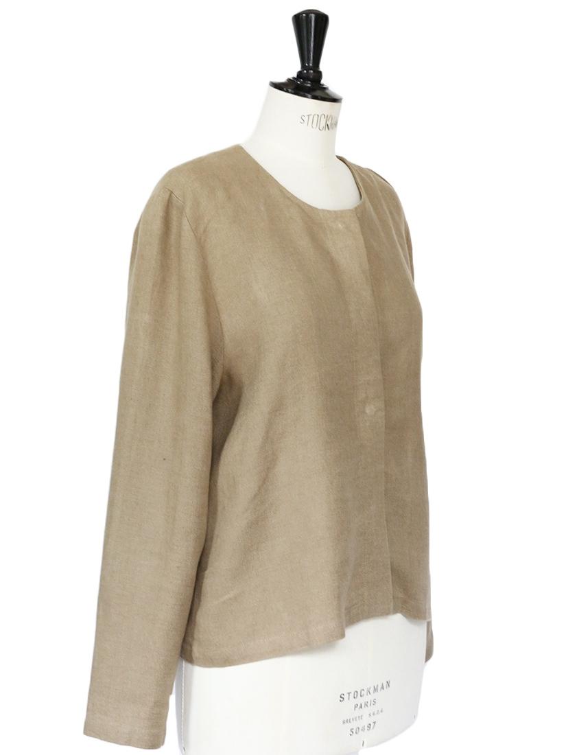 Louise Paris Marimekko Khaki Brown Linen Jacket Retail