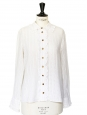 White ruffles and openwork cotton shirt Retail price €600 Size 36