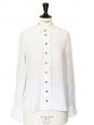 White ruffles and openwork cotton shirt Retail price €600 Size 36