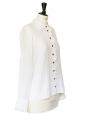 Chemise en coton ajouré et volants blancs Px boutique 600€ Taille 36