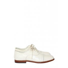 Ecru white leather oxford shoes Retail price 600€ Size 39