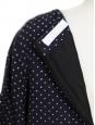 Robe Scalloped en lin et soie bleue à pois blancs Px boutique 800€ Taille 40