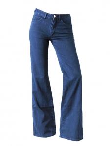 Jean classic bootleg seventies taille haute en denim bleu brut Px boutique 250€ Taille