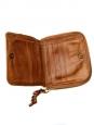 Portefeuille HELOISE carré compact en cuir fauve Px boutique 350€