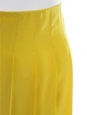 Yellow silk pleated skirt Retail price €800 Size 38
