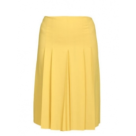 Sunny yellow silk pleated skirt Retail price €800 Size 38
